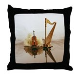 Cello & Harp Throw Pillow