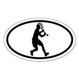 Tennis Backhand Oval Decal