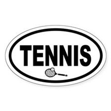 Tennis Racket Oval Decal