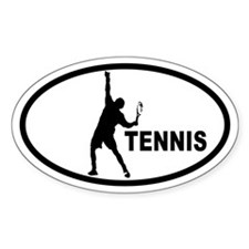 Tennis Serve Oval Decal