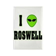 I Love Roswell Rectangle Magnet