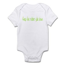 Keep the rubber side down. Infant Bodysuit