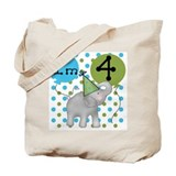 Elephant 4th Birthday Tote Bag