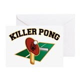 Killer Pong Greeting Card
