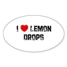 I * Lemon Drops Oval Decal