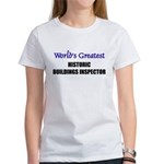 Worlds Greatest HISTORIC BUILDINGS INSPECTOR Women