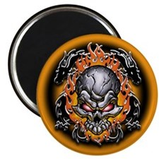 "Tribal Dragons and Skull 2.25"" Magnet (10 pack)"