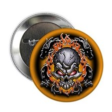 Tribal Dragons and Skull Button