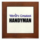 Worlds Greatest HANDYMAN Framed Tile