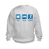 eat sleep softball Sweatshirt