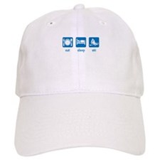 eat sleep ski Baseball Cap