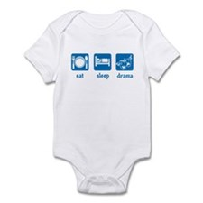 eat sleep drama Infant Bodysuit