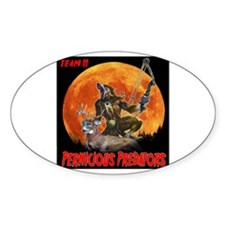Pernicious Predators Oval Decal
