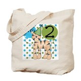 Tiger 2nd Birthday Tote Bag