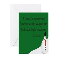 Shakespeare's Snowman Christmas Cards (Pkg. of 10)