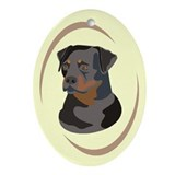 Rottweiler Oval Ornament