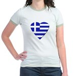 Greek Heart Jr. Ringer T-shirt