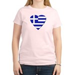 Greek Heart Women's Pink T-Shirt