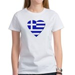 Greek Heart Women's T-Shirt