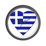 Greek Heart Wall Clock