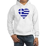 Greek Heart Hooded Sweatshirt