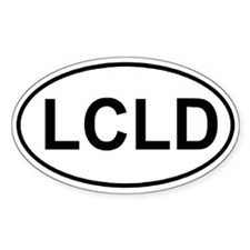 Lousiana Catahoula Leopard Dog (LCLD) Euro sticker