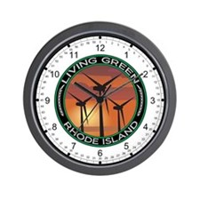 Living Green Rhode Island Wind Power Wall Clock