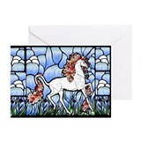 Stained Glass Unicorn Greeting Cards (Pk of 10)