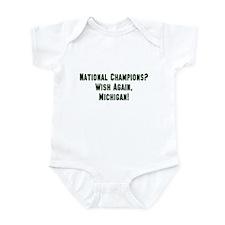 MSU Hates Michigan Infant Bodysuit