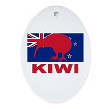 Kiwi Oval Ornament