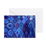 &quot;Blue Cascade&quot; Fractal Art Greeting Card