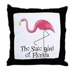 Pink Plastic Flamingo Throw Pillow