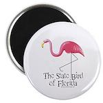Pink Plastic Flamingo Magnet