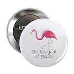 Pink Plastic Flamingo Button