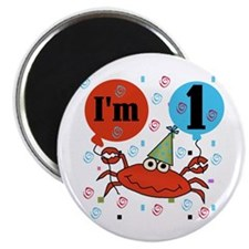 Crab 1st Birthday Magnet