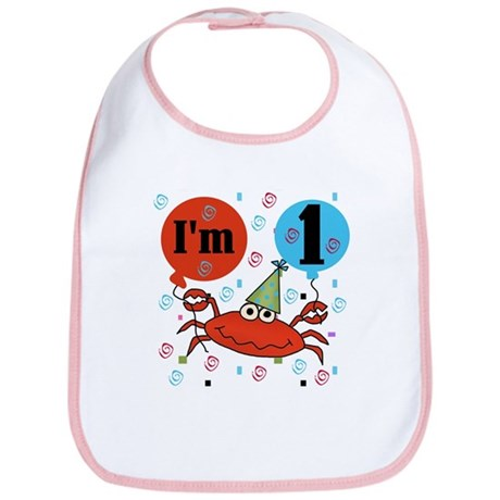 Crab 1st Birthday Bib