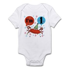 Crab 1st Birthday Infant Bodysuit