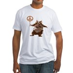 Peace Hamster Fitted T-Shirt