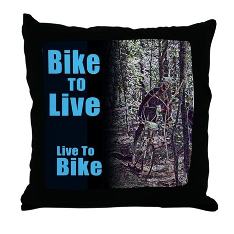 Bike to live, live to bike Throw Pillow