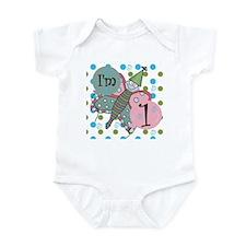 Butterfly 1st Birthday Infant Bodysuit
