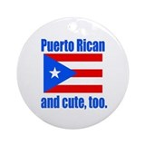 Cute Puerto Rican Ornament (Round)