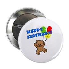 "Birthday Bear & Balloons 2.25"" Button (10 pack)"