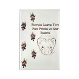 Tiny Paw Prints w/ Face(Stone) Rectangle Magnet (1