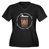 Must Have Coffee Women's Plus Size V-Neck Dark T-S