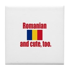 Cute Romanian Tile Coaster