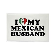 I Love My Mexican Husband Rectangle Magnet