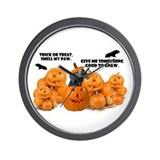 Dachshund Halloween (Black & Tan) Wall Clock