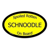 Spoiled Schnoodle On Board Oval Decal