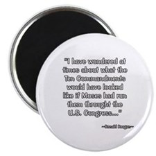 President Reagan on Ten Commandments Magnet