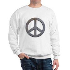 Distressed Metal Peace Sign Sweatshirt